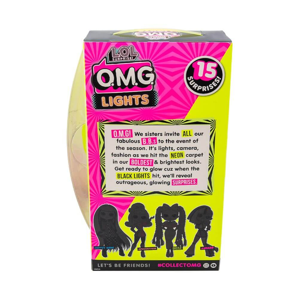 Большая кукла LOL Surprise OMG Lights Dazzle Fashion Doll с 15 сюрпризами - 4