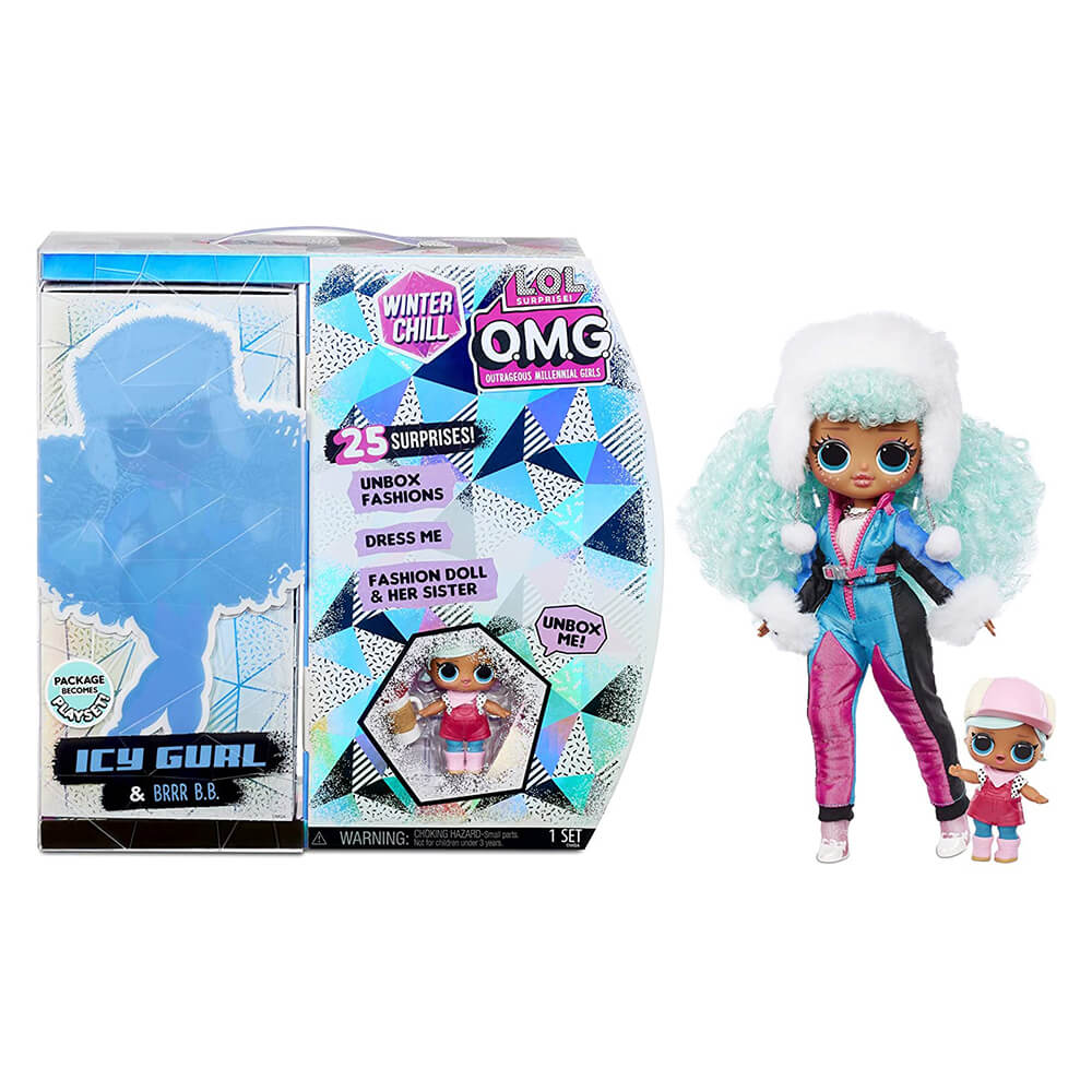 Кукла LOL Surprise LOL OMG Winter Chill Icy Gurl (ледяная девочка) Зимний отдых - 3